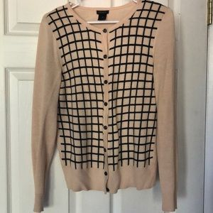 Ann Taylor top. Black Grid and pink. Size:S
